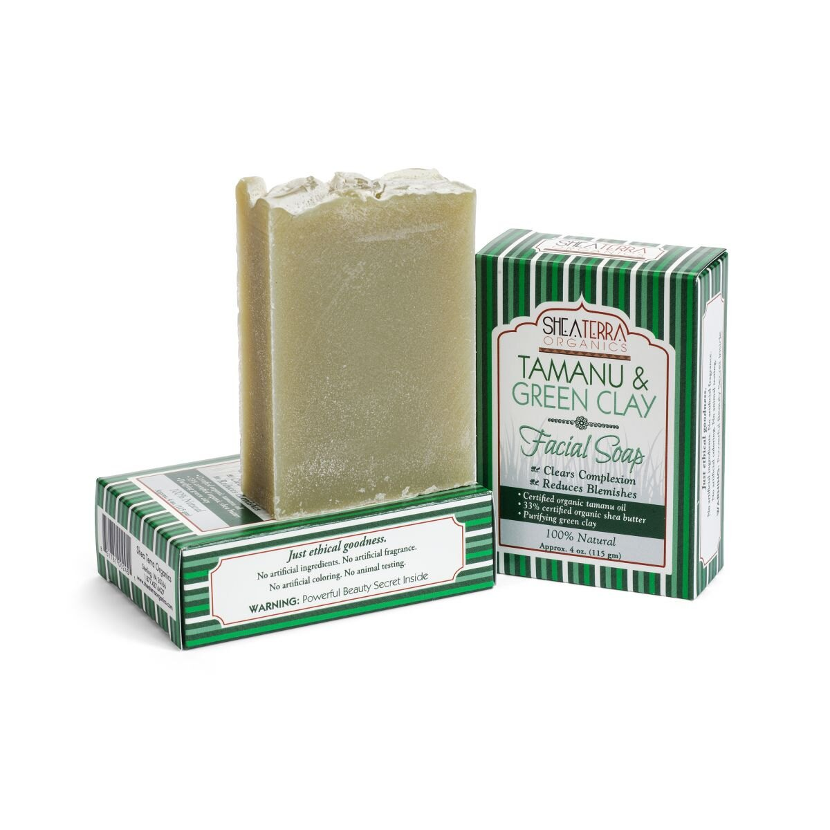【SHEA TERRA】 瓊崖海棠&綠礦物泥淨化臉部/身體清潔皂