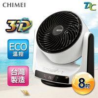 CHIMEI奇美 電風扇推薦到CHIMEI奇美 8吋DC直流3D立體擺頭循環扇 DF-08A0CD就在縱貫線3C量販店推薦CHIMEI奇美 電風扇