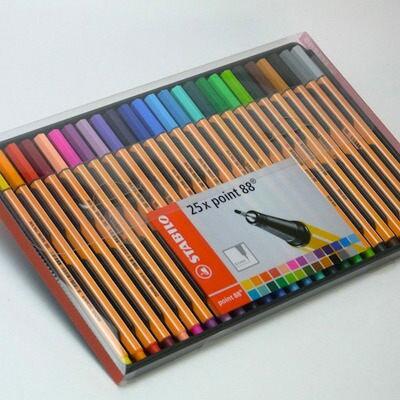 STABILO鵝牌 point 88 款式細字彩色簽字筆  0.4mm  25色 PVC