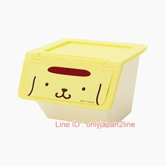【真愛日本】17021600013  組合式收納盒-PN大臉黃+AAB  三麗鷗家族 布丁狗   收納盒 生活雜貨 收納椅