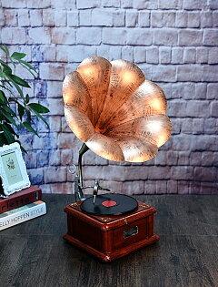 美琪復古大號留聲機模型擺件金屬碟片唱機工藝品預購7天+現貨