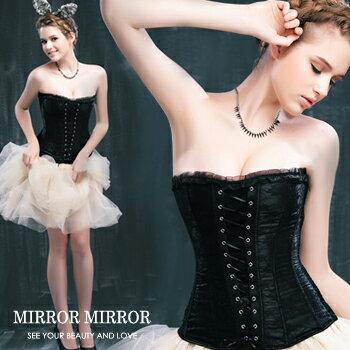 馬甲拉夢爾蕾絲舞動塑身馬甲三色黑-束身、表演服_蜜桃洋房