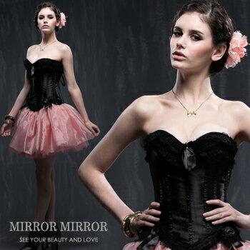 馬甲維多利亞黑色浪漫水鑽塑身馬甲-束身、表演服_蜜桃洋房