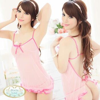 粉紅俏佳人睡衣