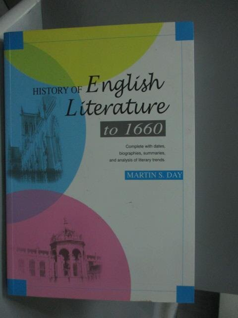 ~書寶 書T3/原文小說_YFZ~History of English Literatur