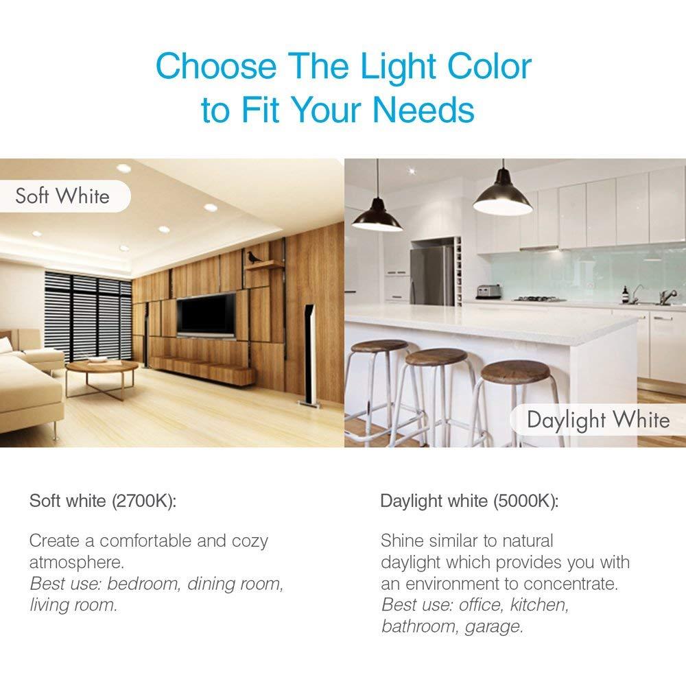 Tenergy 15W LED Bulb 15 Watt Equivalent A115 LED Light Bulbs, E15 Household  Lightbulb, 15 Lumens Energy Saving Lamp Soft/Warm White 15K Lights, ...