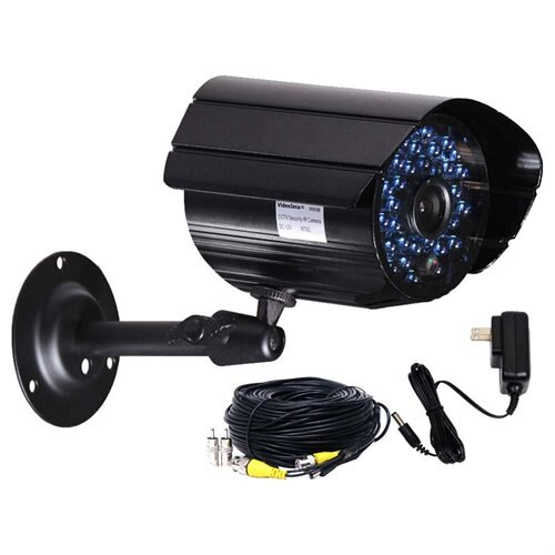 VideoSecu CCTV Weatherproof Infrared Day Night 36 LEDs Security Camera w/ Power Supply & Cable AA2 0