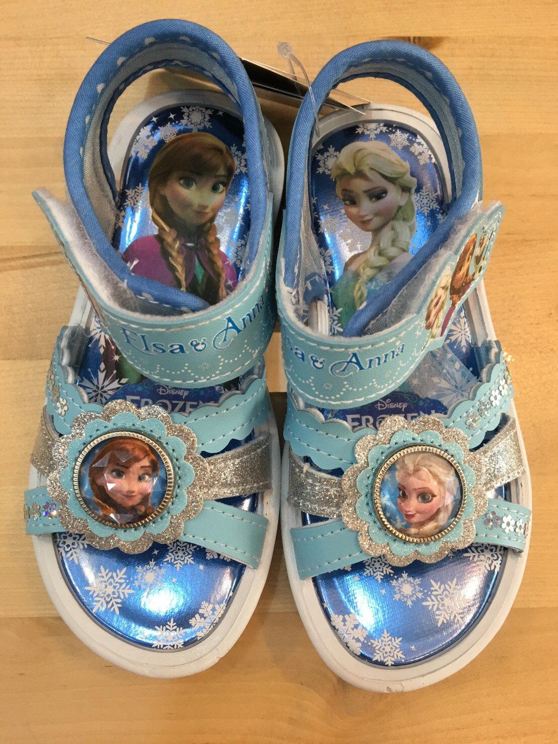 【禾宜精品】正版 冰雪奇緣 水鑽 亮粉藍 涼鞋 童鞋 16,17,18,19 台灣製造 SGS檢驗合格 童鞋