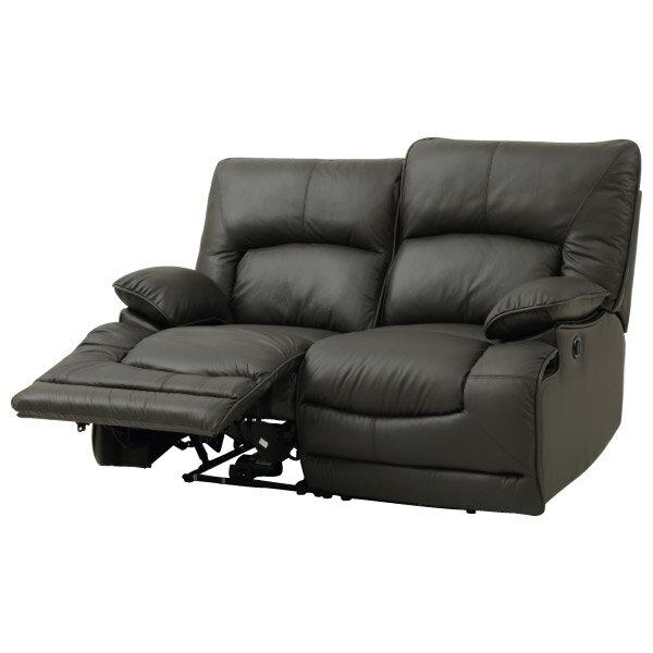 ◎(OUTLET)半皮2人用電動可躺式沙發 HIT DBR 福利品 NITORI宜得利家居 5