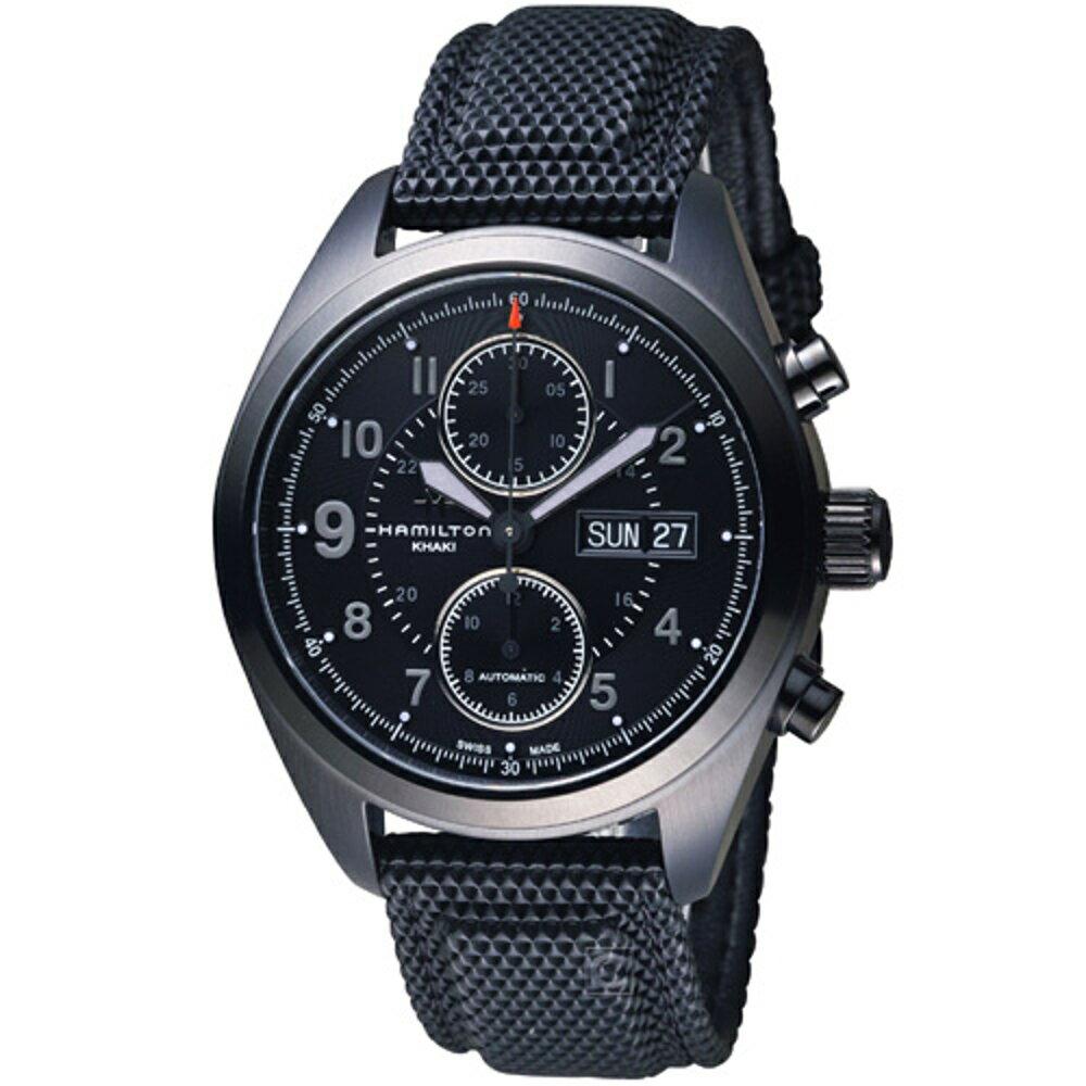 寶時鐘錶 HAMILTON漢米爾頓  Khaki Field系列黑曜王者自動上鍊腕錶      H71626735