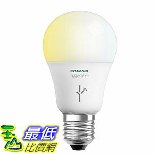 [106美國直購] 燈泡 SYLVANIA SMART A19 Tunable White LED Light Bulb, 60W Equivalent Works with Amazon Alexa 73674