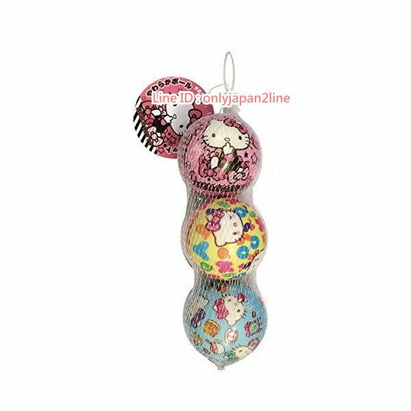 【真愛日本】170221000133入彩色皮球-KT   三麗鷗 Hello Kitty 凱蒂貓   皮球 玩具球 傳接遊戲