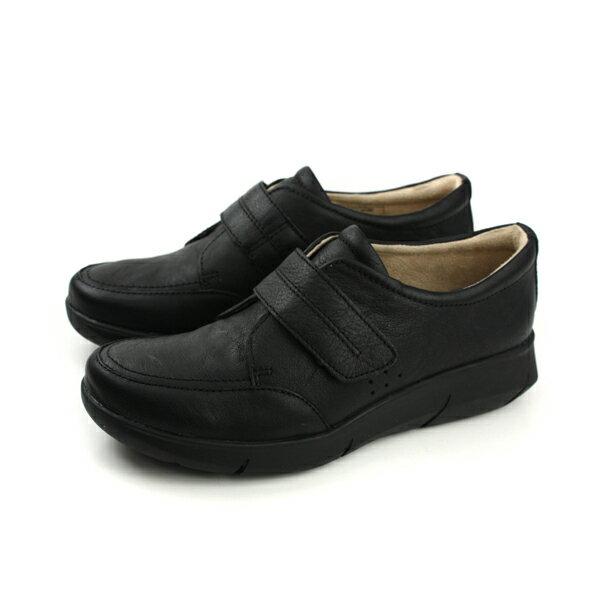 Hush Puppies 休閒鞋 天然皮革 魔鬼氈 黑色 女鞋 6174W115201 no091