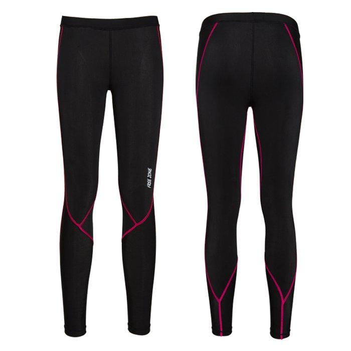 【FREEZONE 台灣】100型 機能壓力褲 運動褲 女款 桃紅色 (FZ100W-LONG)