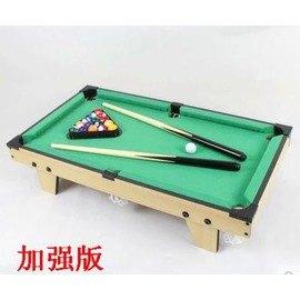【兒童檯球桌-密度板-67.5*37.5*14.5cm-1套/組】(台*1、杆*2、球*16、架*1、配件一套)-56007