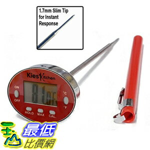 [106美國直購] 溫度計 KIES Precision Digital Thermometer-Instant Read-Best Stainless Steel Waterproof Meat C..
