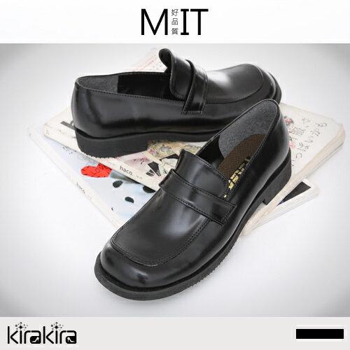 皮鞋-特價優惠-MIT基本款素面方頭低跟學生鞋皮鞋-預購