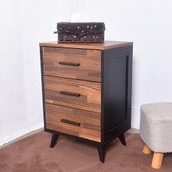 凱堡 工業風三抽櫃 斗櫃/收納櫃/床頭櫃【H06035】
