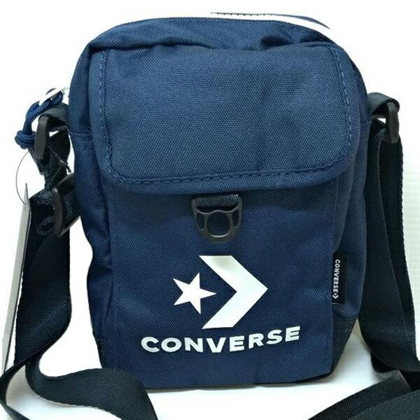 Shoestw【10008299-A03】CONVERSE 側背包 斜背包 小側背包 隨身包 復古LOGO 海軍藍色 ALLSTARS