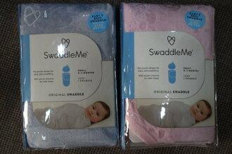 美國Summer Infant SwaddleMe (Luxe Velboa 絨毛刷毛懶人包巾)-藍色