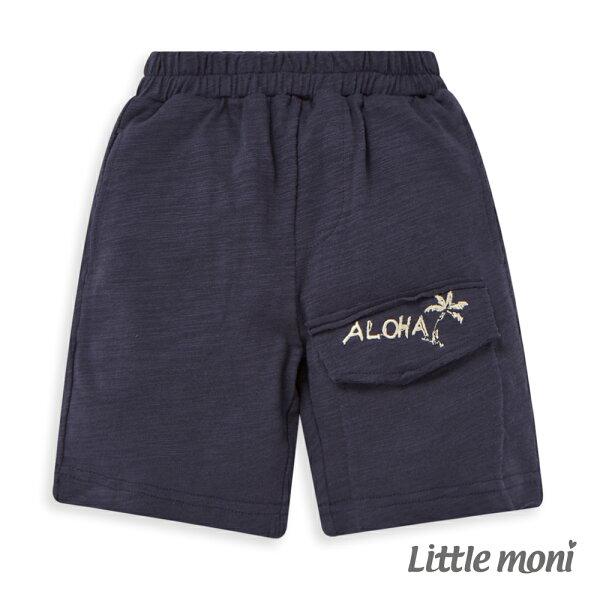 Littlemoni休閒夏日短褲-深藍