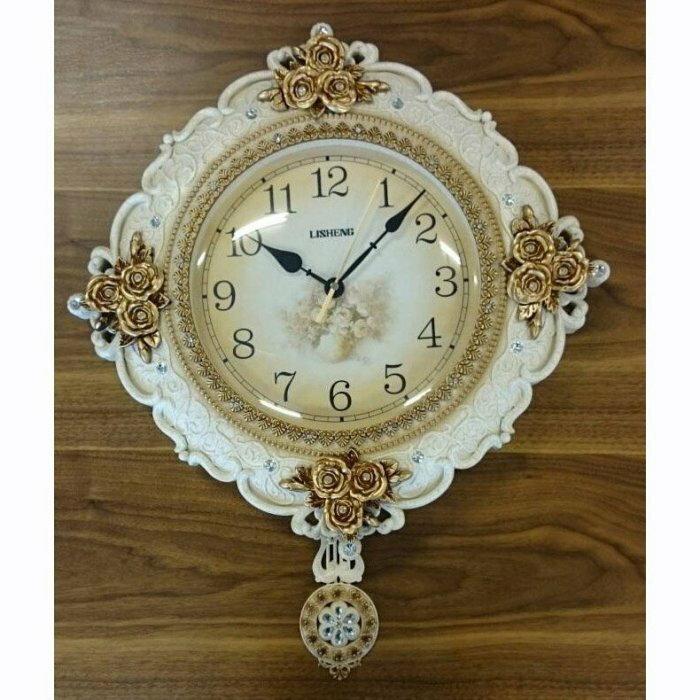 【尚品傢俱】807-64 涅古-白 造型時鐘/精緻飾鐘/美術掛鐘/美型時計/精美掛飾/藝術壁鐘/時尚美學精品吊鐘