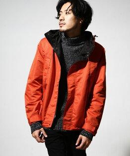 防潑水登山夾克橘色