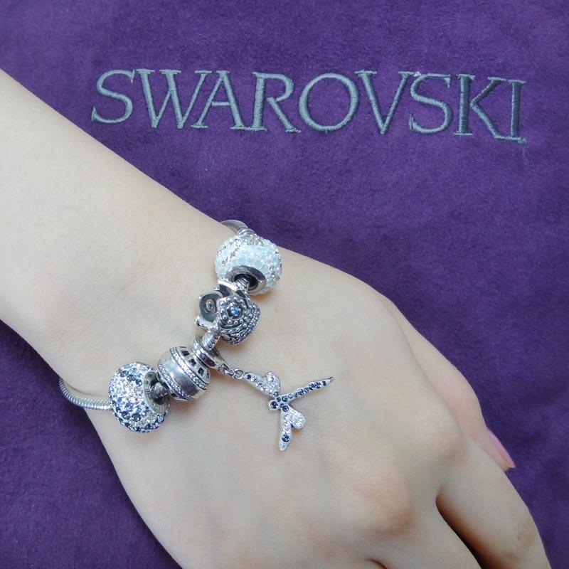 SWAROVSKI 施華洛世奇元素 925純銀手鍊 B23