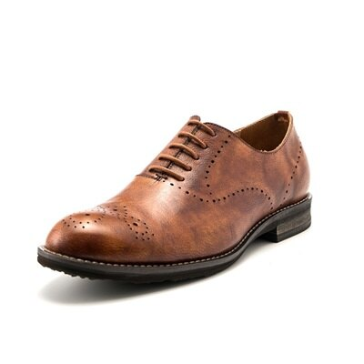 短靴真皮繫帶靴子-巴洛克雕花商務休閒男靴2色73kk84【獨家進口】【米蘭精品】