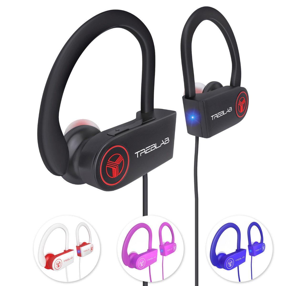 f045e2f6f99 TREBLAB XR100 Bluetooth Sport Headphones, Best Wireless Earbuds for Running  Workout, Noise Cancelling Sweatproof