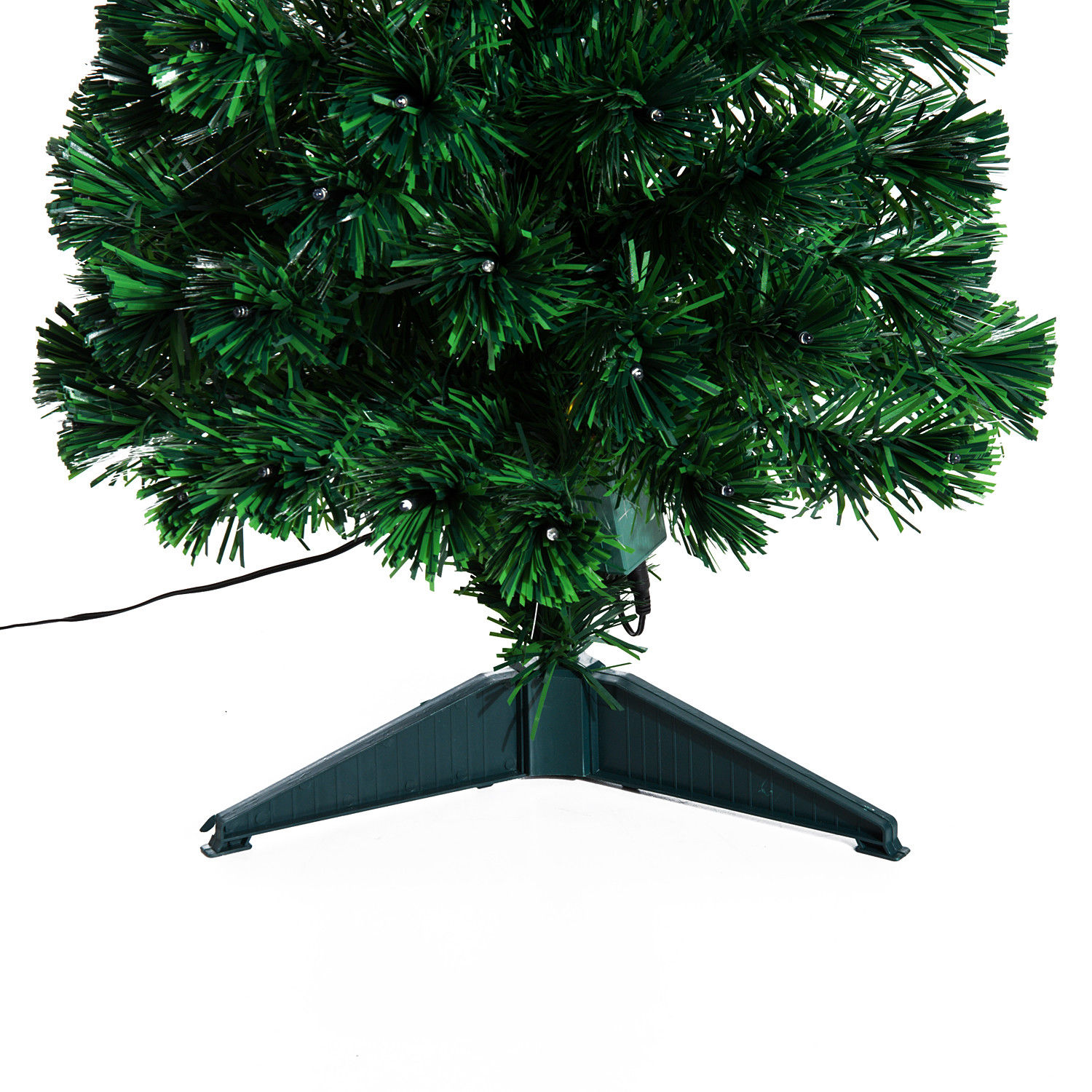 3' Artificial Fiber Optic / LED Light Up Christmas Tree w/ 8 Light Settings and Stand 5