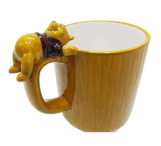 陶瓷馬克杯 小熊維尼 pooh 杯緣子 仰躺 咖 馬克杯 水杯 茶杯 杯 果汁杯 4942423240815 真愛日本