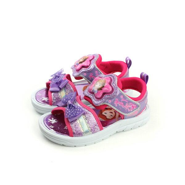 蘇菲亞 Sofia 涼鞋 電燈鞋 發光 好穿 舒適 童鞋 紫色 中童 SOKT77557