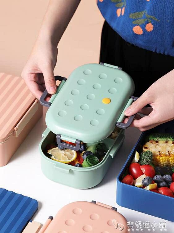 保溫飯盒1人便攜小日式網紅上班族可微波爐加熱可愛少女心便當盒yh