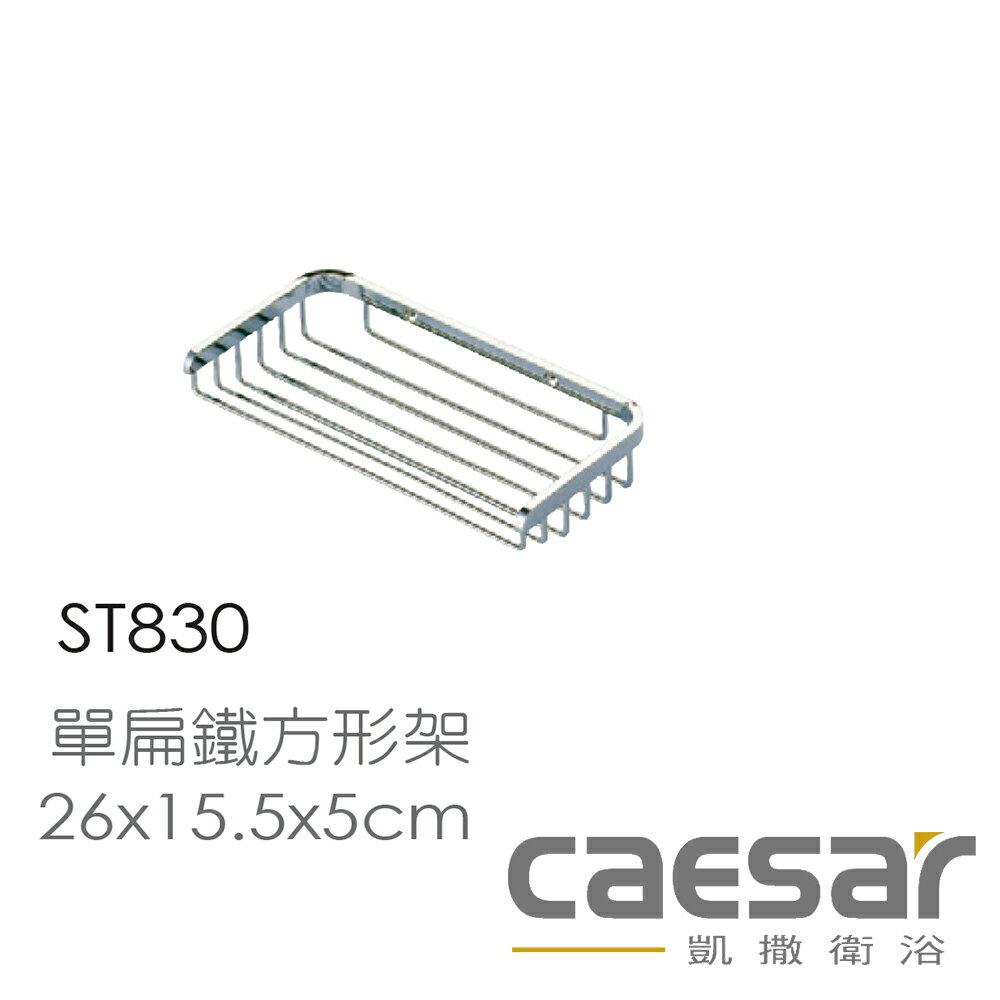 【caesar凱撒衛浴】單層扁型鐵方形架 2入組(ST830)