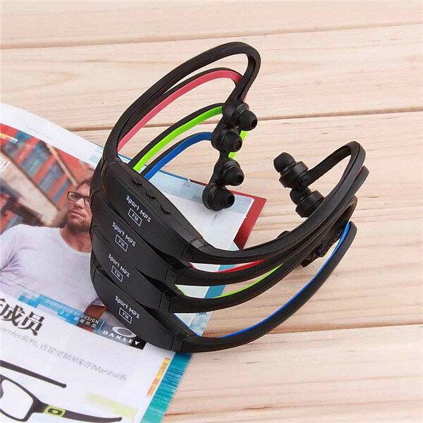 可伸縮USB運動MP3音樂播放器耳機TF插槽