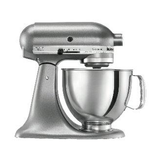 KitchenAid 桌上型 攪拌機太空銀 美國百年品牌 美國原裝 Made in USA 買就送丹麥Bodum濾壓壺+CANTEEN雙層玻璃杯2入組