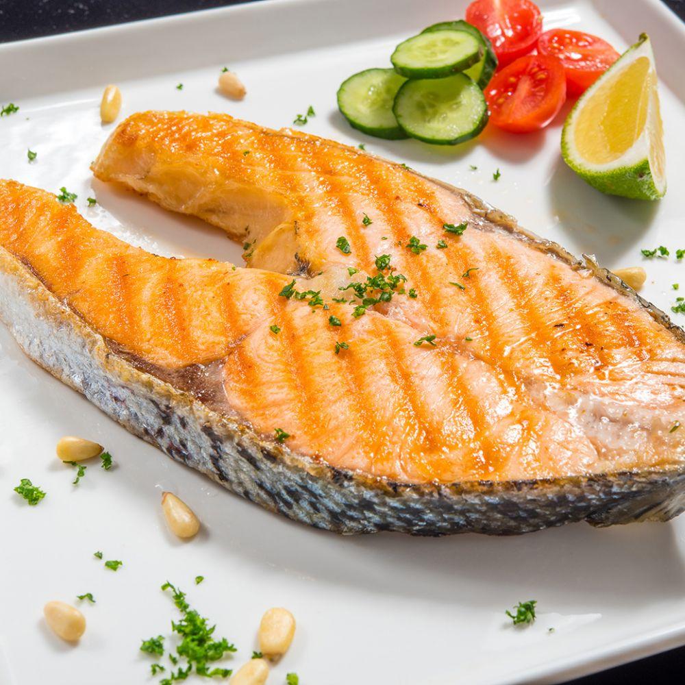 【鮮綠生活】厚片輪切智利鮭魚(310g)~一餐份量剛剛好