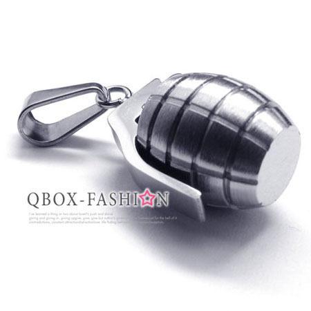 《QBOX》FASHION飾品【W10016569】精緻個性手榴彈316L鈦鋼墬子項鍊