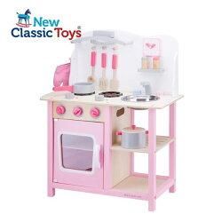 限時87折《 荷蘭 New Classic Toys 》甜心小主廚木製廚具台 廚房玩具 ( 粉色、含配件 )