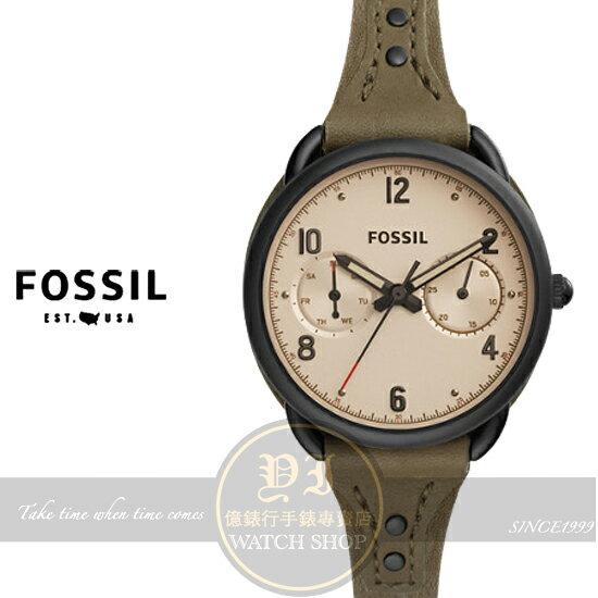 FOSSIL美國品牌TAILOR復古女孩日曆 腕錶ES4047 貨