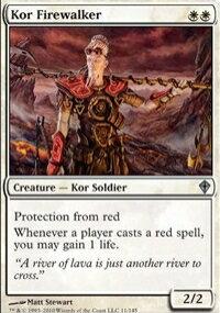 【Playwoods】 MTG 魔法風雲會 WWK No. 011 Kor Firewalker 火行寇族 UC卡(白卡非普白生物)