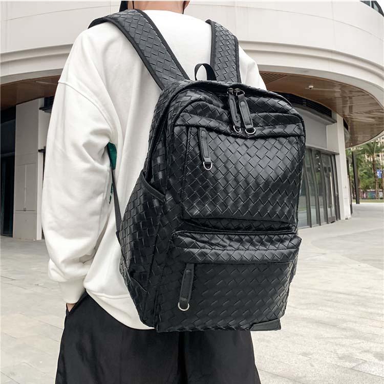 【5折超值價】潮流時尚日系編織造型百搭後背包