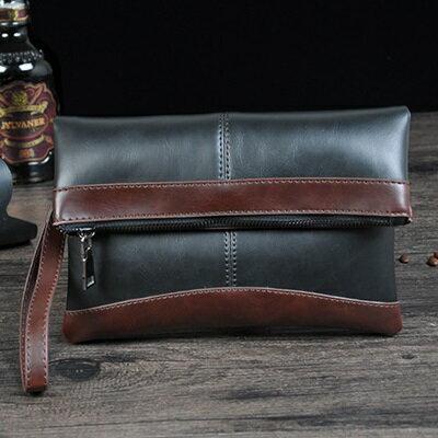 手拿包折疊信封包-紳士商務文件復古男包包2色73sd37【獨家進口】【米蘭精品】 2