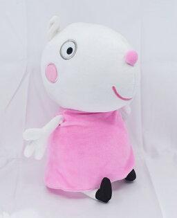 X射線【C040347】粉紅豬小妹PeppaPig12吋玩偶-蘇西羊,絨毛填充玩偶玩具公仔抱枕靠枕娃娃