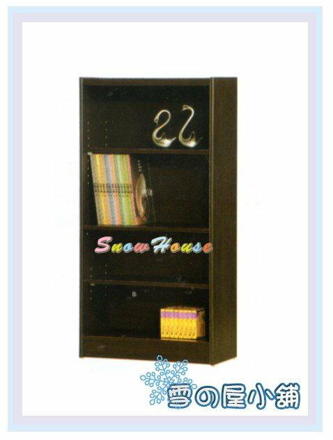 ╭☆雪之屋居家生活館☆╯AA553-02 F-02書櫃(黑胡桃)(美背式)/置物櫃/收納櫃/展示櫃/附活動隔板2片