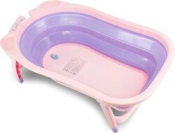 【隨貨加贈浴網】Karibu 凱俐寶 Tubby摺疊式澡盆/浴盆-薰衣草紫
