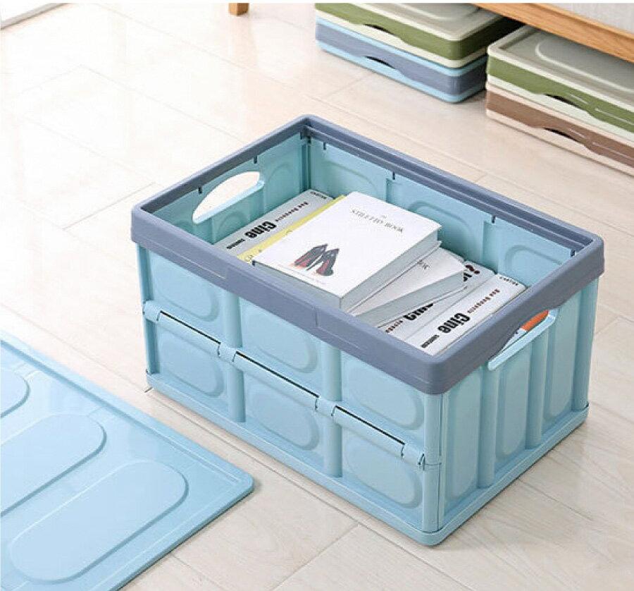 折疊收納箱大容量整理箱 加厚耐重工具箱 可堆疊居家衣物玩具收納車用置物箱儲藏箱儲物箱 旅遊露營置物多功能收納箱