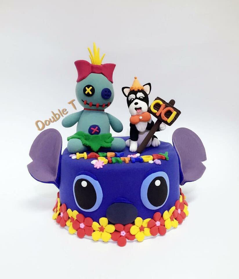 3D 主題款~ 寵物蛋糕 /寵物鮮食/生日蛋糕/史迪奇款 (4吋/6吋) ★外層裝飾與毛孩公仔 可以永久保存★【Double T 寵物工作坊 】
