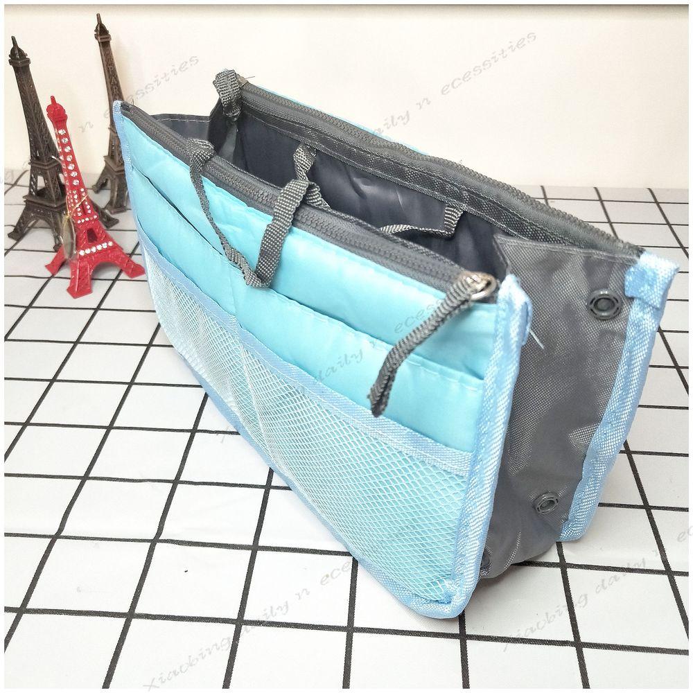 袋中袋 雙層超大加厚手提式收納包 包中包 多格收納袋旅行【小冰生活百貨】